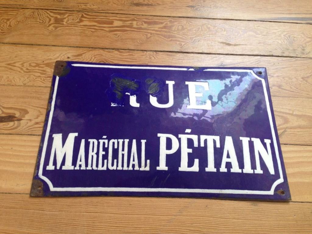 Plaque de rue émaillée Maréchal PETAIN Pzotai14