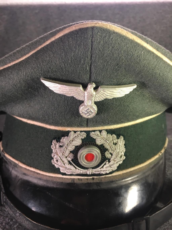 Estimation casquette allemande (sous-officier d'infanterie) brute de découverte S1910
