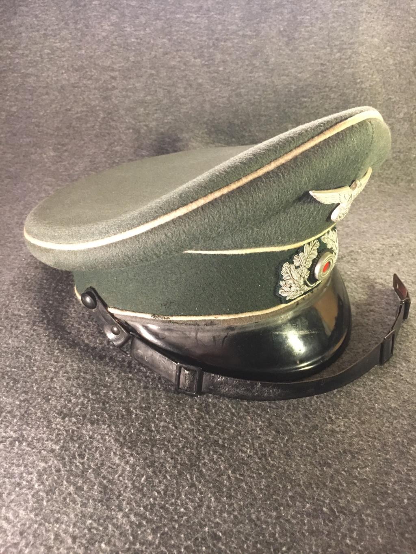 Estimation casquette allemande (sous-officier d'infanterie) brute de découverte S2010