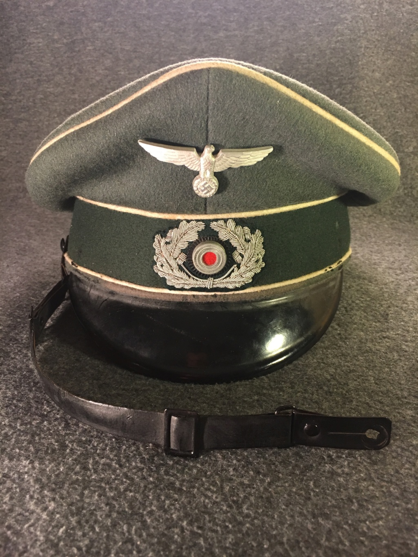 Estimation casquette allemande (sous-officier d'infanterie) brute de découverte S2310