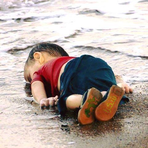 صور مؤلمة لطفل لاجئ سوري قذفته الأمواج إلى سواحل تركيا  11940710