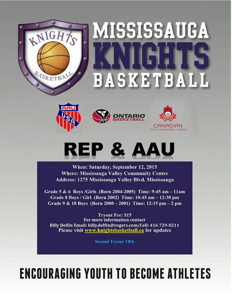 Mississauga Knights Basketball TRYOUTS THIS WEEKEND Tryout11