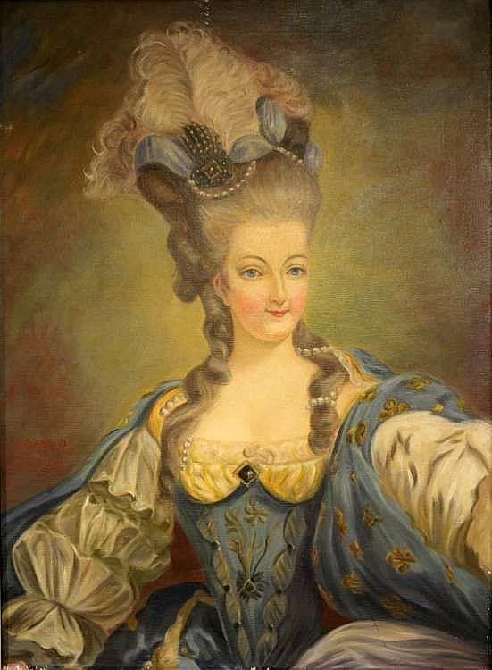 A vendre: tableaux Marie-Antoinette, Versailles et XVIIIe siècle H1982910