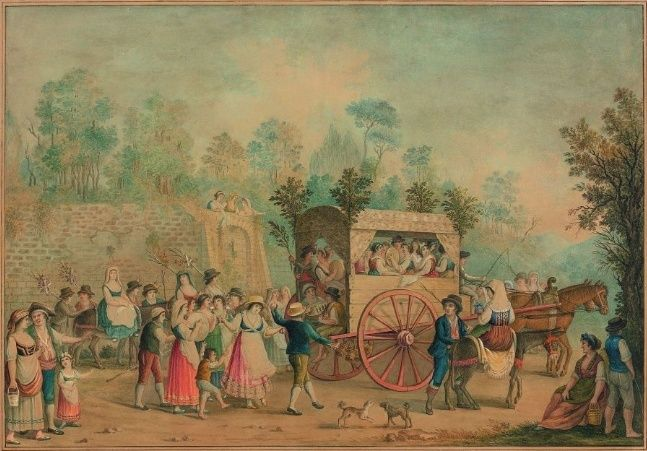 A vendre: tableaux Marie-Antoinette, Versailles et XVIIIe siècle Z11