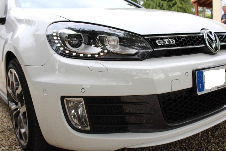 "[GTD Blanc Candy 5P DSG6 VENDU] Bi-Xénons, TO, Glastint, JA GTI ED35 18"" Titane, Caméra de recul, Park assist, Cat-back Milltek look GTI, Modèle 2011 Img_0515"
