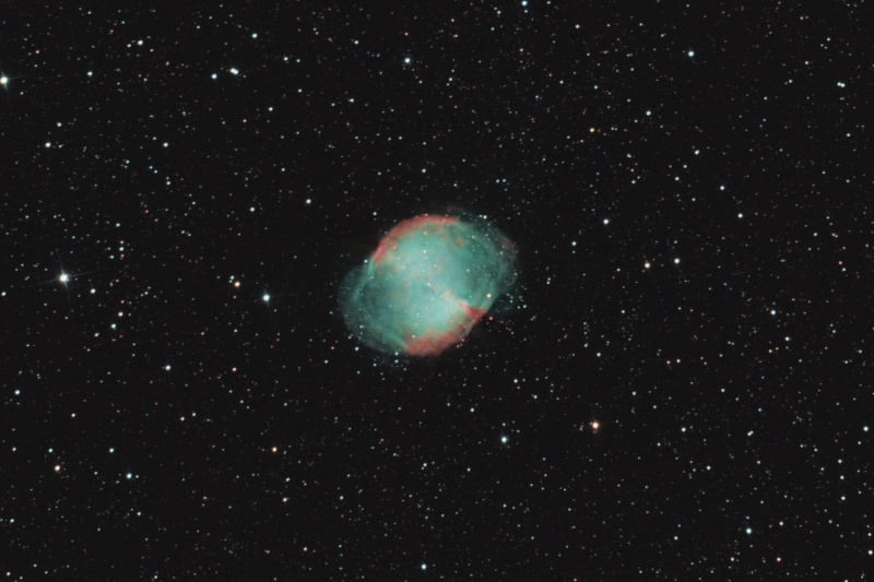 M27 revisitée et bout de lune  M27-cr10