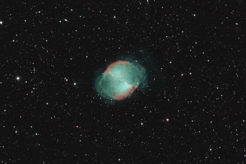 M27 revisitée et bout de lune  M27-cr11