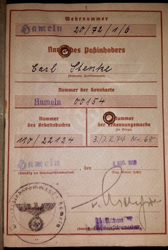 Vos livrets militaires allemands WWII (Soldbuch, Wehrpass..) / Heer-LW-KM-SS... - Page 2 Image61