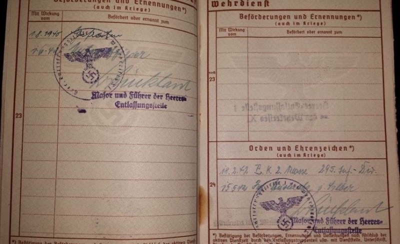 Vos livrets militaires allemands WWII (Soldbuch, Wehrpass..) / Heer-LW-KM-SS... - Page 2 Image65