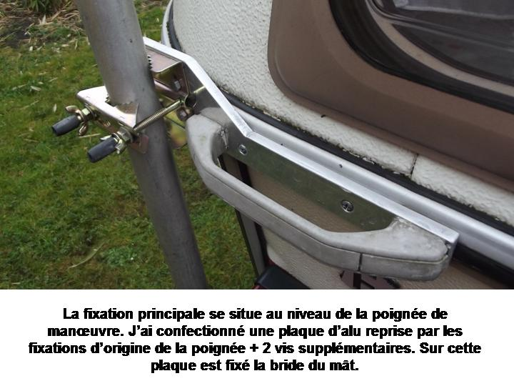 mâts d'antenne, exemples de fixation sur nos cagouilles Diapos89