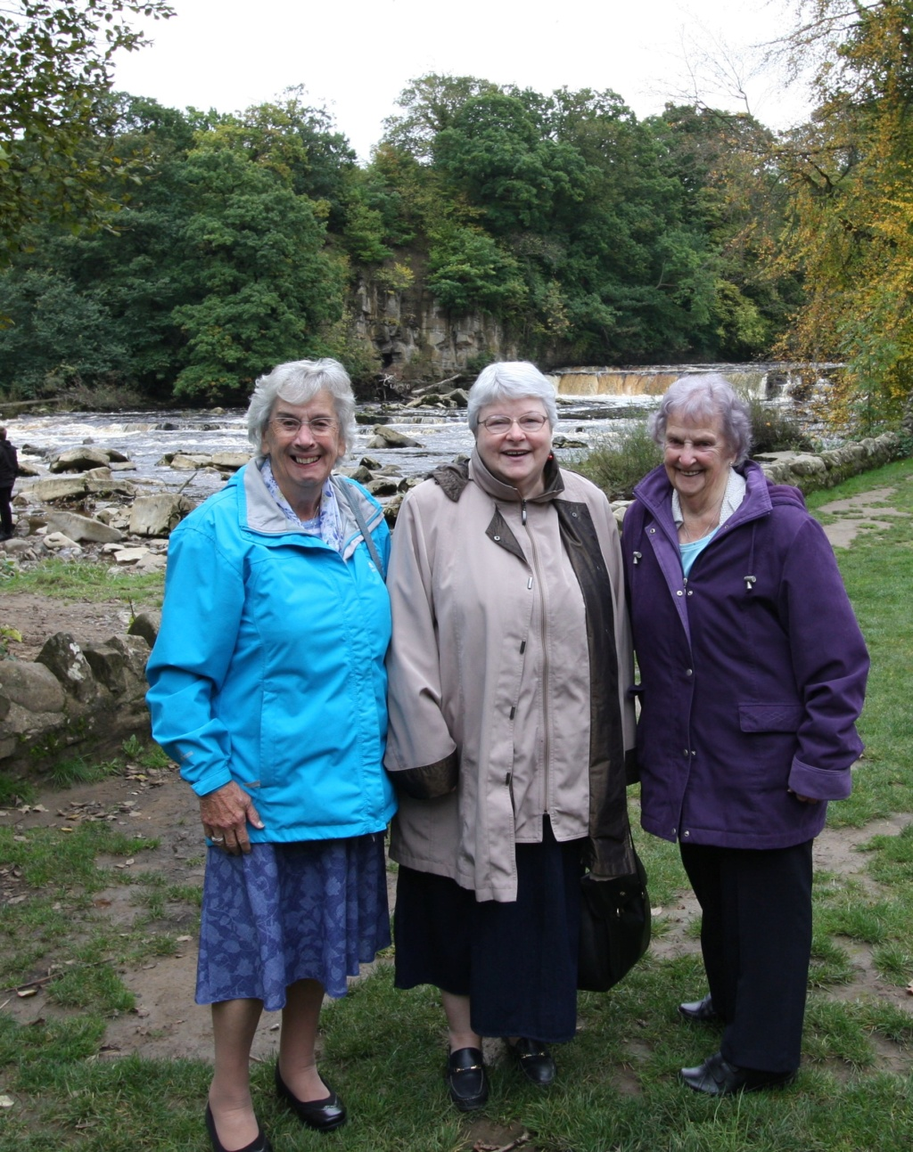 My cousins and I at the falls on the River Swale in Richmond Img_1110