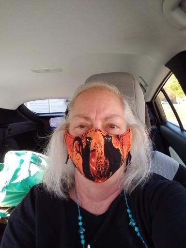 My friend's handmade face mask for Halloween Scotti10