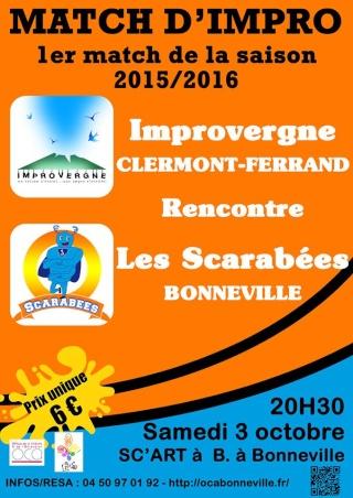 Match Scarabées Bonneville/Improvergne Clermont-Férant OCA Bonneville 03/10/2015 Match_12