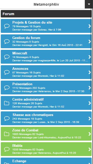 Nouvelle interface mobile Screen10
