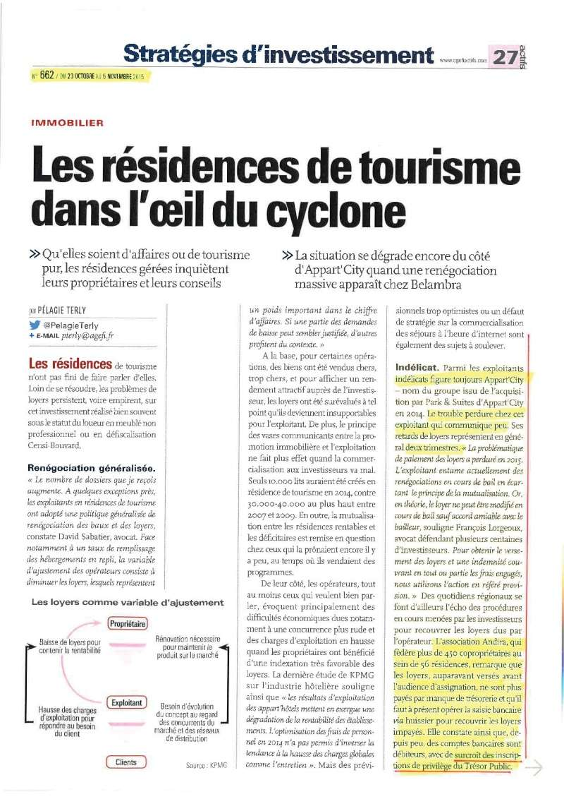 Article AGEFI N°662 du 22 oct au 6 Nov 2015 (info ANDIRA) Articl10