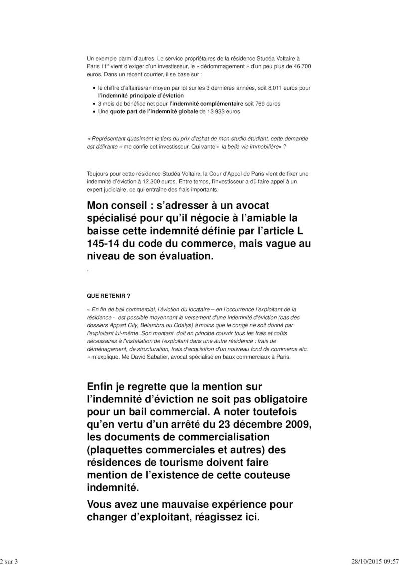 Immo: Chère indemnité d'éviction Immo_g11