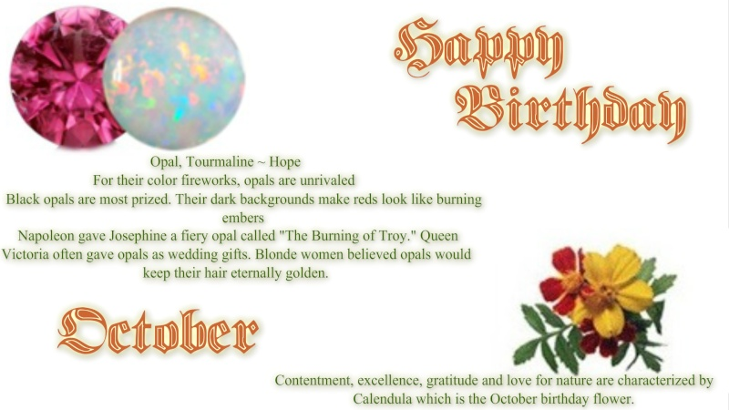 Happy Birthday October members!  Octobe10