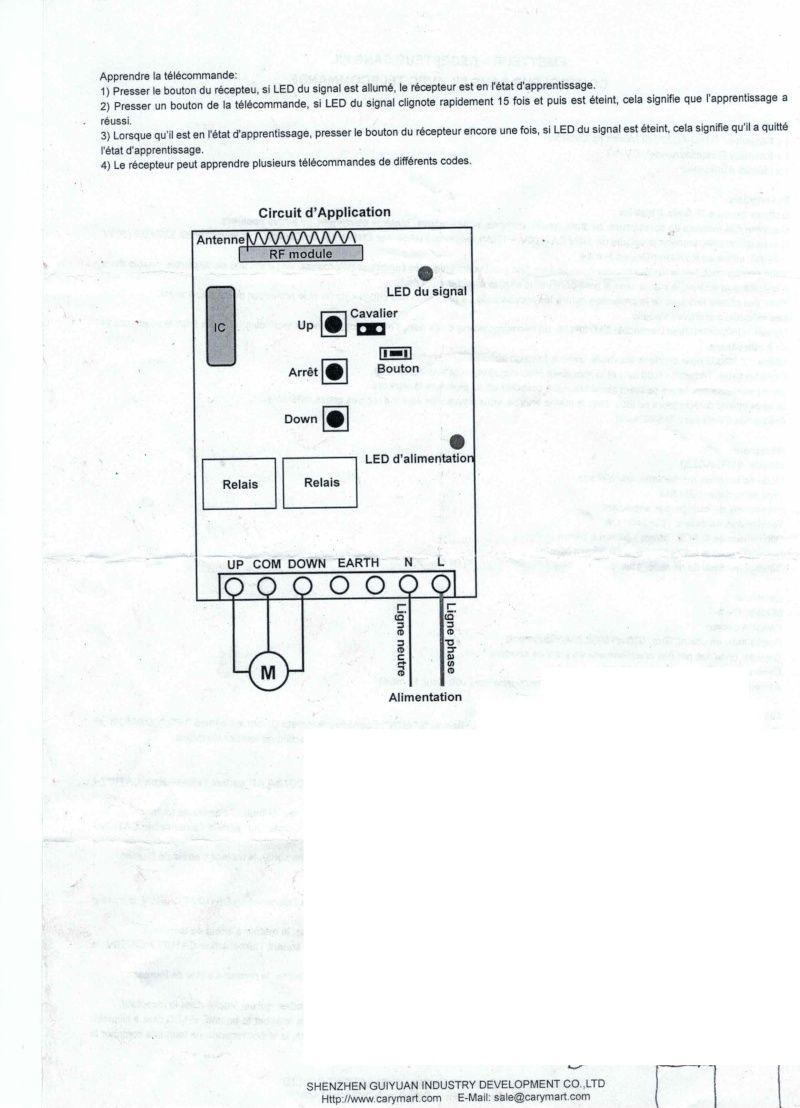 mettre une telecommande radio sur un treuil avec commande a fil - Page 3 Numyri10