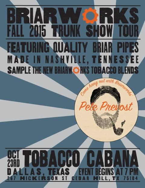 Trunk show and pipe club meeting 10/23/15 Cedar Hill TX Briarw10
