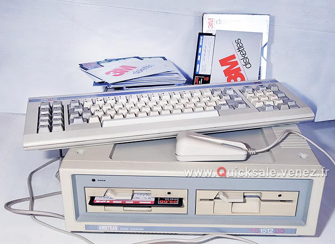 [VDS] PC ordinateur Amstrad 1512 DD de 1987 (Rare) 280€ Dd210