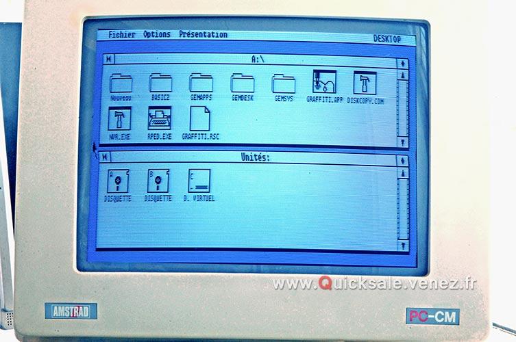 [VDS] PC ordinateur Amstrad 1512 DD de 1987 (Rare) 280€ Dd311