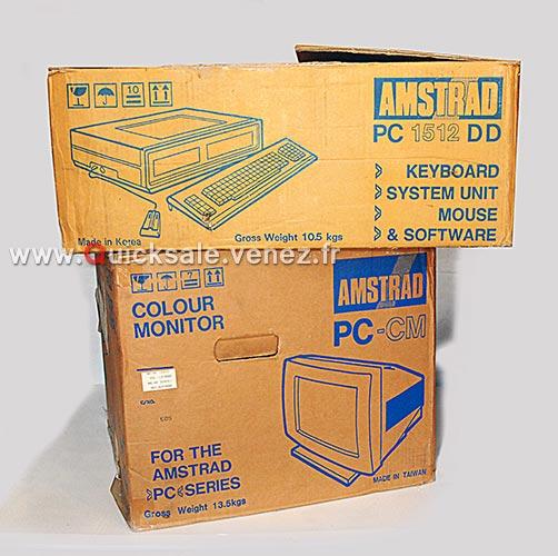 [VDS] PC ordinateur Amstrad 1512 DD de 1987 (Rare) 280€ Dd411