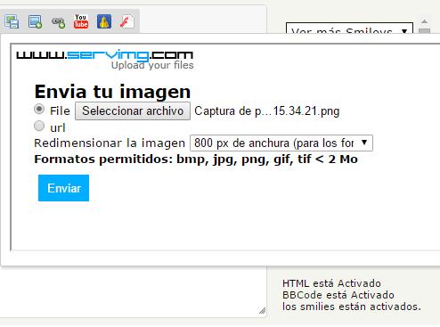 Añadir fotos y vídeos al foro Captur12
