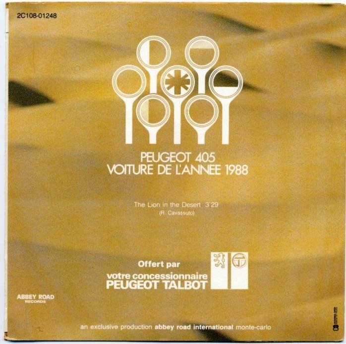 Objets publicitaires et promotionnels PEUGEOT 405 Vinyle11