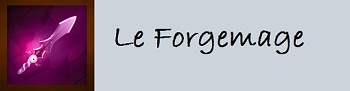 Récapitulatif des métiers de la guilde Forgem12