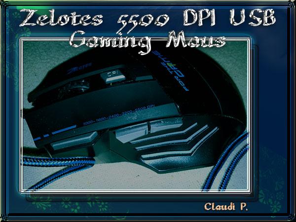 Zelotes -  5500 DPI USB Gaming Maus Ganze-10