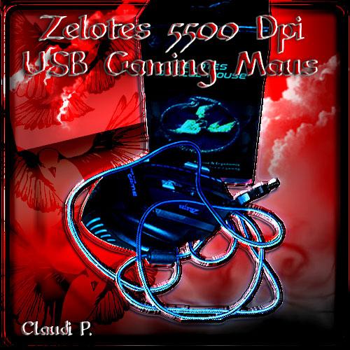 Zelotes -  5500 DPI USB Gaming Maus Packun13