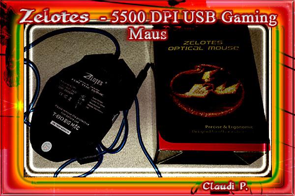 Zelotes -  5500 DPI USB Gaming Maus Ryckse16