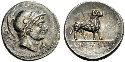 Denier incus République Lucius Rustius 14659110