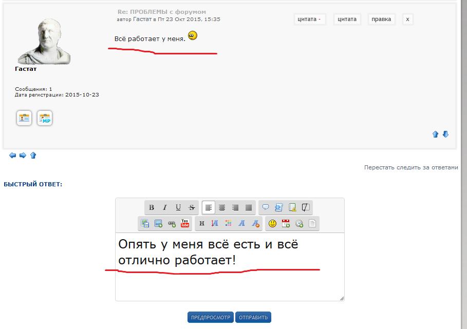 Регистрация и возможность отвечать и писать сообщения. 10