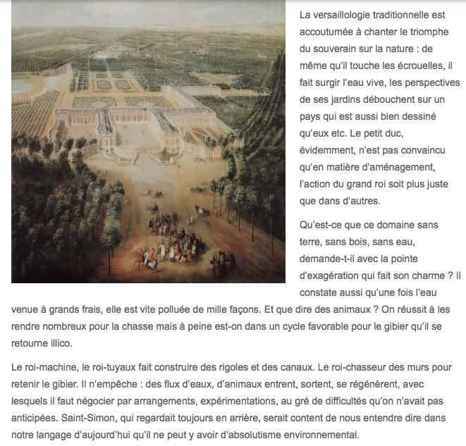 La marche de l'Histoire: L'environnement de Versailles L10