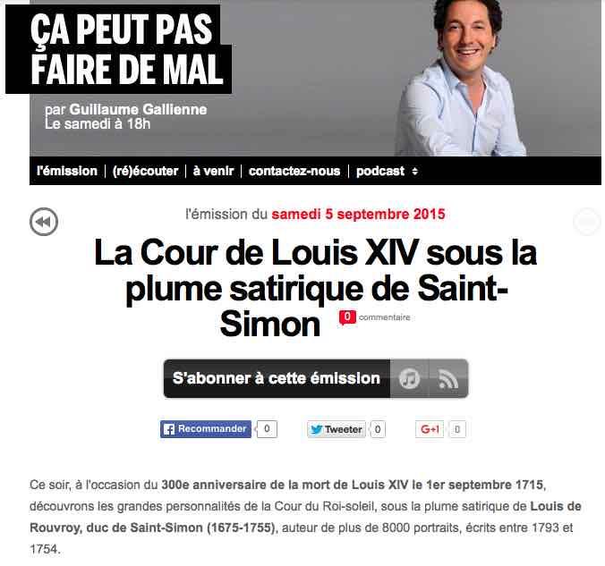 La Cour de Louis XIV sous la plume satirique de Saint-Simon Louis10