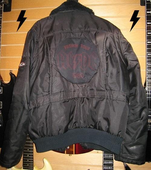 Bon Scott's French tour jacket Bon-sc10