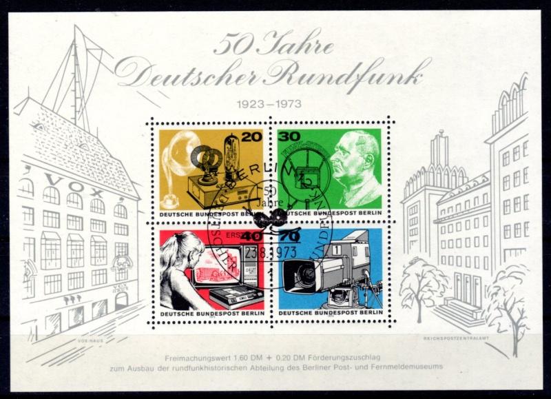Briefmarkenblocks der Deutschen Bundespost Berlin Berlin10