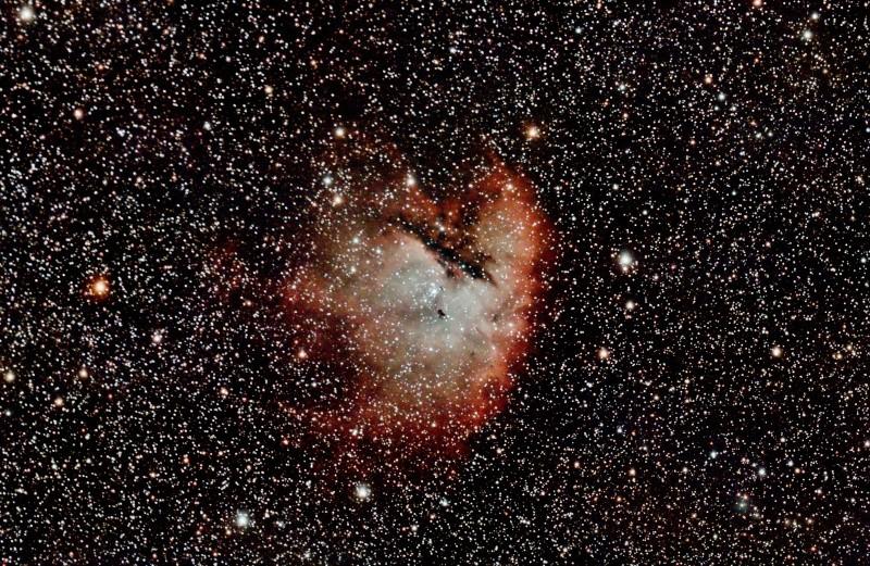 NGC281 la nébuleuse PACMAN Finale10