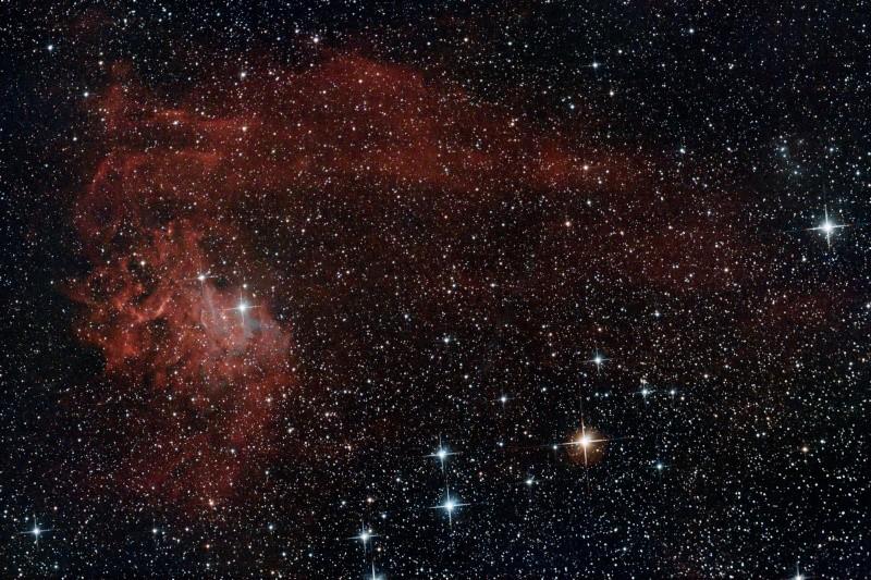 IC 405 nébuleuse de l'étoile flamboyante Finale15