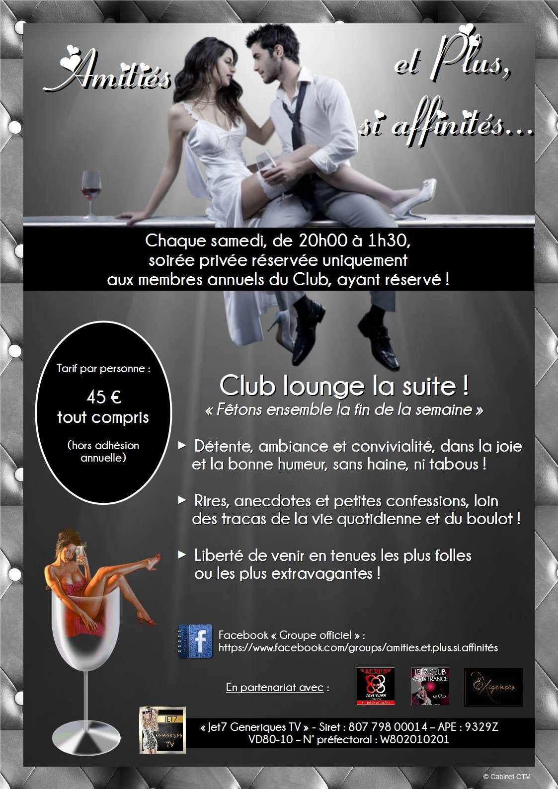 AMITIÉS ET PLUS SI AFFINITÉS : #soirée privée à #Amiens chaque #samedi Jet7_g14