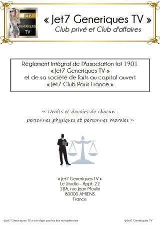 #JET7 #CLUBS #PARIS #FRANCE : JET7 GENERIQUES TV ( @JET7TV @TititEtZaza @OVJSCLUB @NewsContacts #Jet7 #JetSet #Jet7France) - Notre #Réglement interne Ryglem10