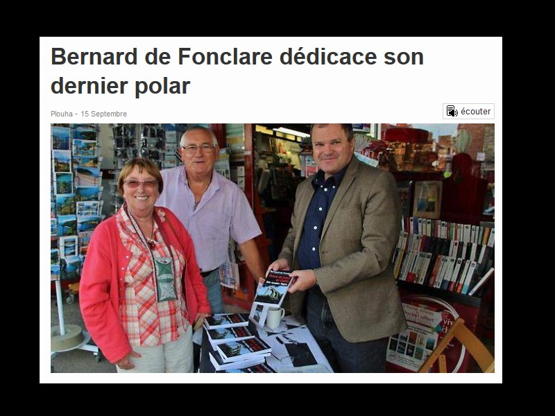 Bernard de Fonclare dédicace son dernier polar  011