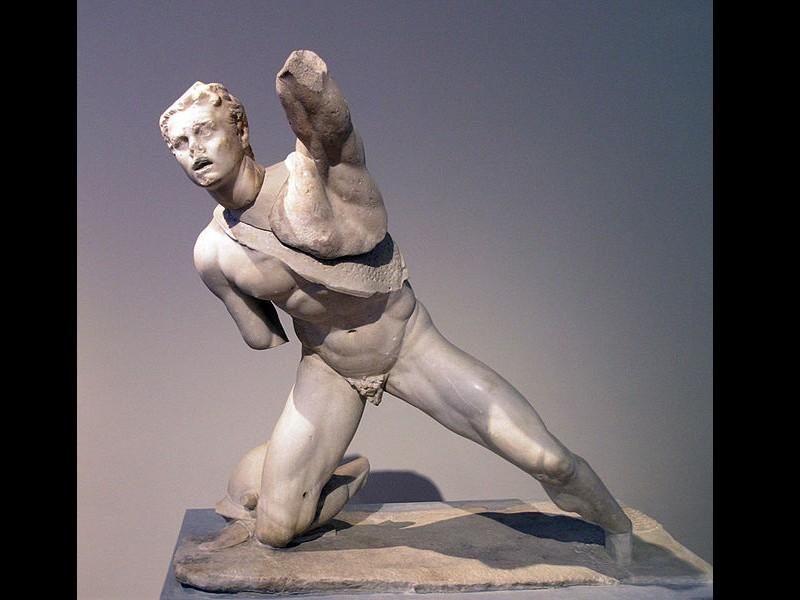Statue d'un guerrier gaulois, en marbre parien, 6458