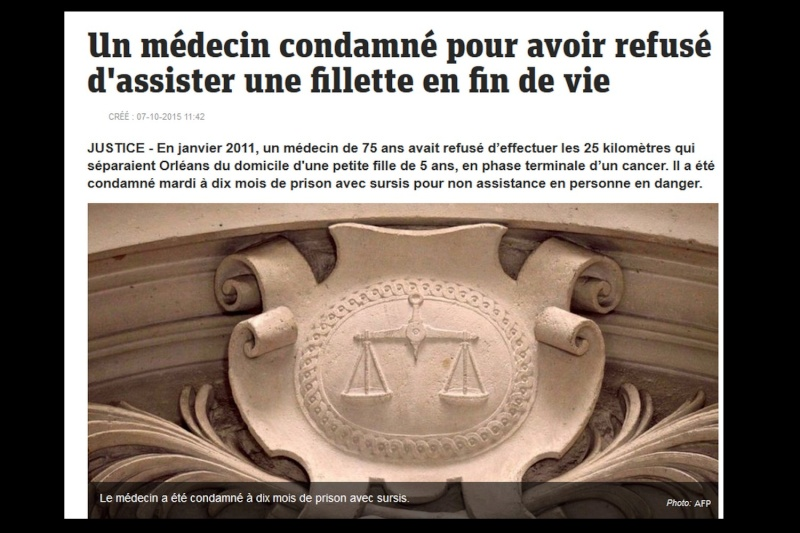 JUSTICE - En janvier 2011, un médecin de 75 ans avait refusé d'effectuer les 25 kilomètres  Sans_195