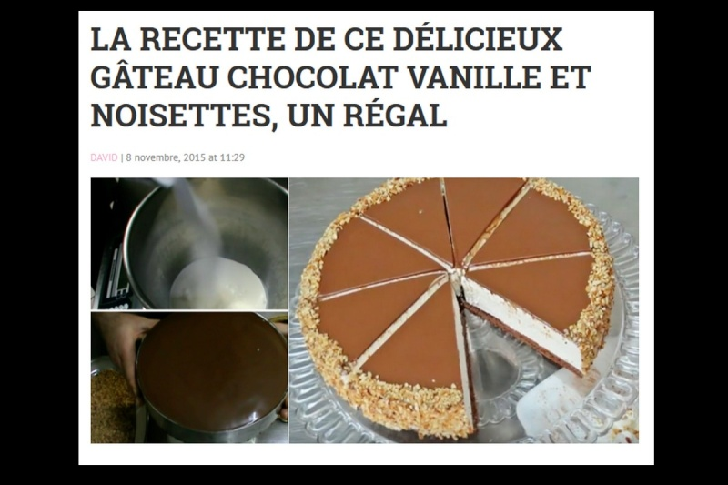 la recette de ce délicieux gâteau chocolat vanille et noisettes, un régal Sans_481