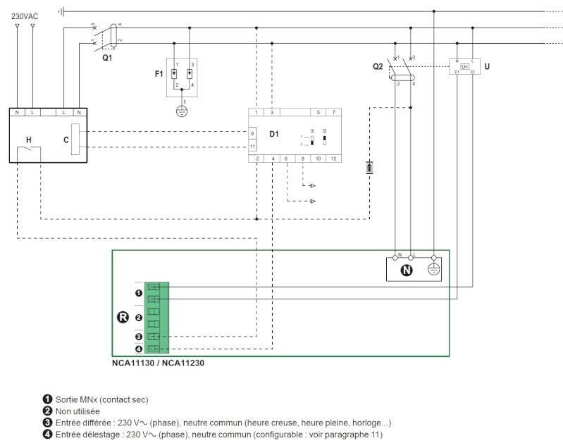 Raccordement borne Schneider et bobine MNx Branch10
