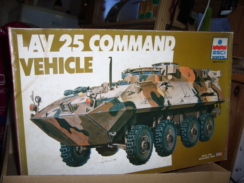 LAV 25 version command vehicle - ESCI - 1/35 from the box P1030019