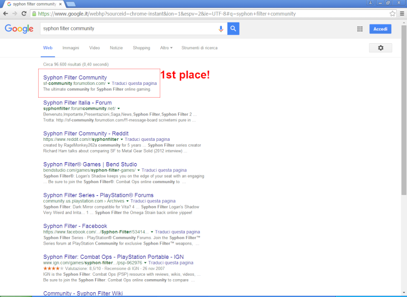 1st place in Google! Syphon12