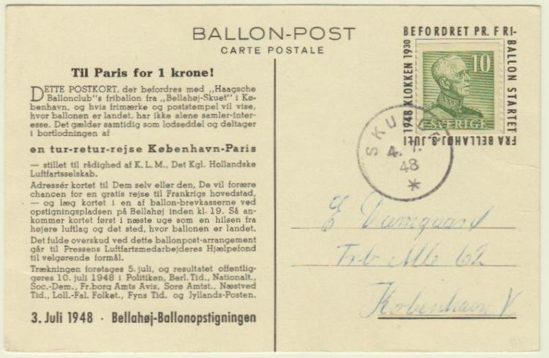 Ballonpost Schweden Ballon10